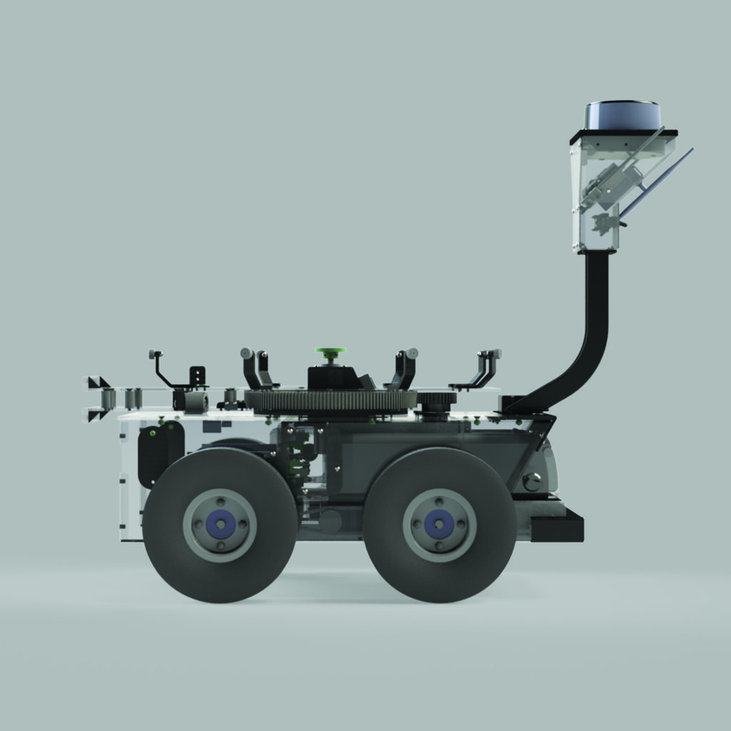 AIS Unmanned Ground Vehicle Side View