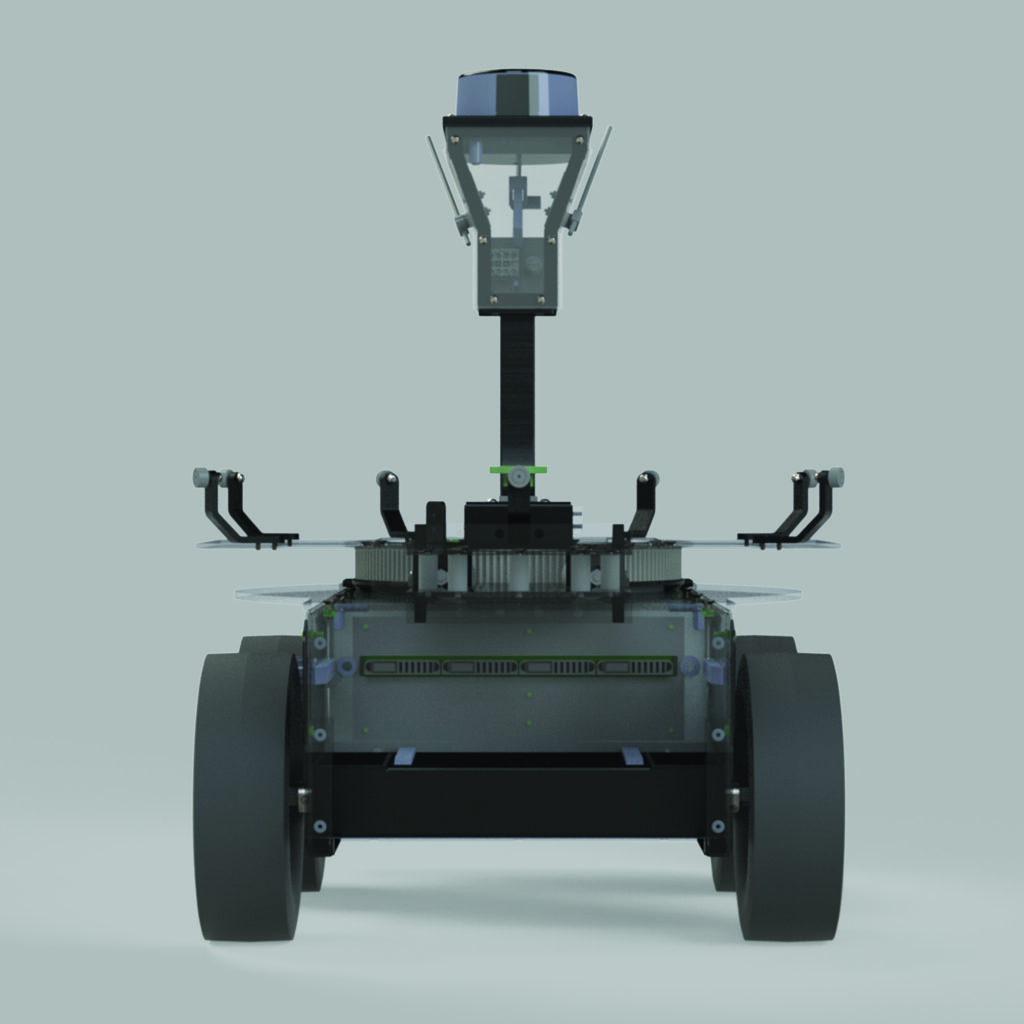AIS Unmanned Ground Vehicle Front View
